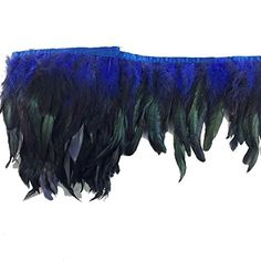 Sowder Rooster Hackle Feather Fringe Trim in Width Pack of 5 Yards(Royal Blue) Rooster Feathers, Black Feathers, Blue Feather, Neck Piece, Arts And Crafts Supplies, Fringe Trim, Maleficent, Amazon Art, Sewing Stores