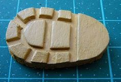 making sole out of sculpey... Now you can make soles for your little girl's AG doll shoes!