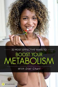 32 Most Effective Ways To Boost Your Metabolism - With Diet Chart