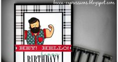 CTMH Jack stamps and paper, Sugar Rush paper, Kaleidoscope stamps, It's Your Day stamps