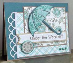 umbrella set and papers from dcwv linen stack love this card.