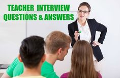 8 top teacher interview questions and answers. How to handle these typical interview questions about your teaching skills and experience. Teaching interview questions about classroom management, discipline and student interaction. Teaching Interview Questions, Teacher Job Interview, Teacher Interviews, Interview Guide, Interview Questions And Answers, Teaching Skills, Teaching Jobs, Teacher Portfolio, Classroom Management Plan