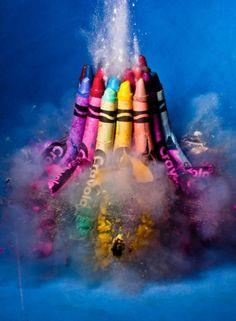Explosions of Crayola color