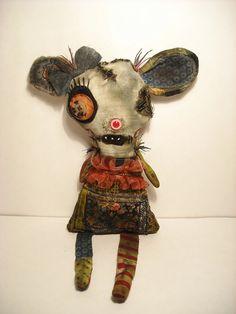 Handmade Art Doll Monster Tartine by JunkerJane on Etsy