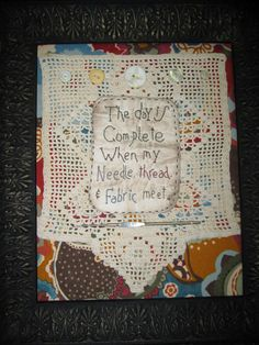 Journal cover using NEEDLE WORK