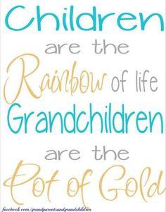 Children are the Rainbow of life! #Children | #Grandchildren | #Love