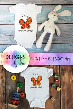 Download Butterfly Sublimation | Blossom Little Butterfly | Bodysuit (1408690) today! We have a huge range of Sublimation products available. Commercial License Included. #ad Baby Illustration, Illustrations, Fabric Gifts, First Baby, Butterfly Print, Baby Prints, One Design, Design Crafts, Baby Bodysuit