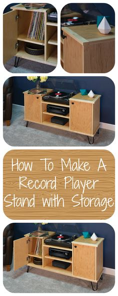 This is luxurious! Check out this record player stand. Give your entertainment room a retro vibe but still having a mid century style. Click the picture below for more info. #handymate