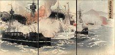 Sino-Japanese War of 1894-1895, Ukioy-e woodcut, Japan