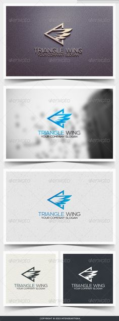 Triangle Wing Logo Template - Objects Logo Templates