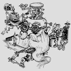 Coffee Illustration, Illustration Sketches, Coffee Art, Drip Coffee, Isometric Drawing, Wedding Couple Photos, Doodle Art Designs, Creative Coffee, Prop Design