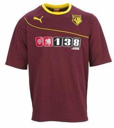 Watford Away Kit 2013/14 Puma Championship League, Watford Fc, Football Kits, Sports Shirts, Burgundy, News, Design, Fashion, Soccer Kits