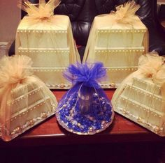 #afghan #wedding gift boxes for the bride and the shirnee tray