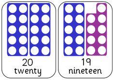 Numicon A5 Cards 0-20 Numicon Activities, Maths Resources, School Resources, Classroom Activities, Maths Eyfs, Math Literacy, Preschool Math, Teaching Math, Year 1 Maths