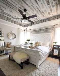 modern french country farmhouse master bedroom design: brilliant living room modern farmhouse design tips Country Master Bedroom, Modern Farmhouse Bedroom, Master Bedroom Design, Home Bedroom, Bedroom Ideas, Master Bedrooms, Bedroom Designs, Girls Bedroom, Bedroom Colors