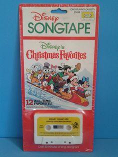 """Disney Songtape """" Disney Christmas Favorites """" 1980's Cassette Tape"""