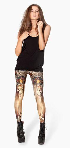 Women's  High Waist Summer-Autumn LA TRAPPISTINE Print Leggins Fashion Ankle Length Leggins Free Shipping 10151 $10.88