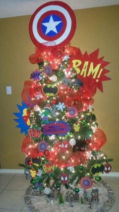 Avengers christmas tree