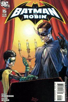 Batman and Robin (2009) 15A DC Comics Book cover art super heroes villians