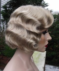 Fingerwave Wig Rose Quality Great for Theatre 24 Blonde Finger Wave | eBay