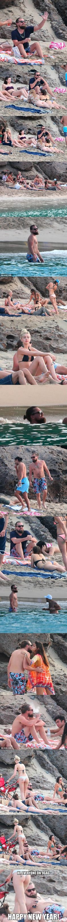 He Is The King Of The World! Leonardo DiCaprio's Happy New Year