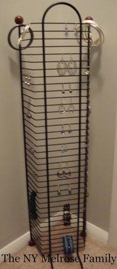 re-purpose an old cd storage rack