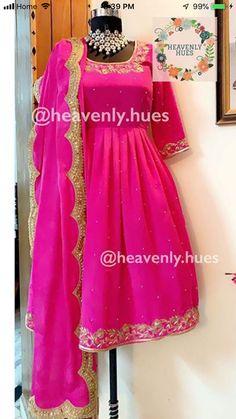 Bridal Lehnga Red, Bridal Anarkali Suits, Salwar Suits, Indian Bridal Outfits, Indian Fashion Dresses, Indian Designer Outfits, Designer Dresses, Punjabi Dress Design, Punjabi Suit Neck Designs
