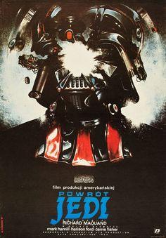 Return of the Jedi (20th Century Fox, 1984). Polish movie poster, artist: Witold Dybowski.