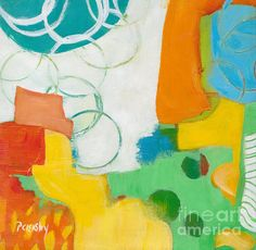 Colorful Abstract Original Painting by Patricia Cleasby, Zooberhood