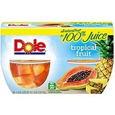 Dole Fruit Bowls Tropical Fruit in Fruit Juice, 4 Oz Bowls, 4 Cups of Fruit Mixed Fruit, Fresh Fruit, Dole Fruit Cups, Gourmet Recipes, Snack Recipes, Road Trip Snacks, Almond Cakes, Fruit Juice, World Recipes