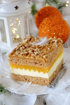 Pomarańczowy miodownik Food Cakes, Homemade Cakes, Other Recipes, Yummy Cakes, Christmas Cookies, Vanilla Cake, Nutella, Cake Recipes, Sweet Tooth