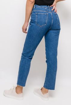 Mom Jeans, Trousers, Pairs, Denim, Chic, Womens Fashion, Casual, High Waist, Buttons