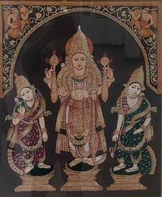 Mysore Painting, Madhubani Painting, Traditional Paintings, Traditional Art, Yashoda Krishna, Temple India, Lord Vishnu, God Pictures, Indian Gods
