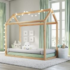 Cama Casinha Montessoriana Amadeirada • #toddler #kid #bed