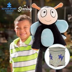 """Scentsy's Charitable Cause for the new catalogue is """" Autism Speaks Canada """" . We have a Scentsy buddy & the Piece by Piece warmer ❤️. $9.50 from each buddy and $10 from each warmer sold will be donated to Autism Speaks Canada !!! Visit https://leonahuntblagdon.scentsy.ca/"""