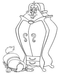 Free Printable Disney Beauty And Beast Cartoon Coloring Pages Wardrobe Cartoonfree