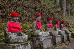 Jizo statues in Nikko, Japan