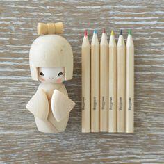 Color Me Kokeshi Doll