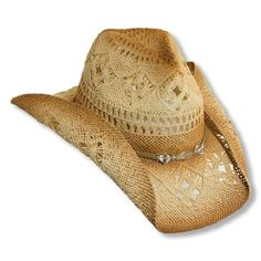 ca6487dad24 Western Cowgirl Hat with Glass Beads by Dorfman Pacific...I SOOOO wish I