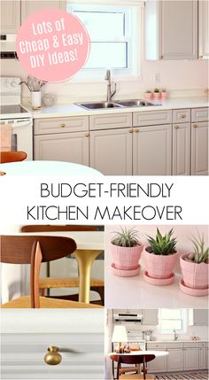 Budget-Friendly Kitchen Makeover, Before and After Photos. Lots of DIY Ideas to Make Over Your Kitchen for Little Money. Diy Outdoor Kitchen, Home Decor Kitchen, Diy Home Decor, Kitchen Ideas, Decor Crafts, Kitchen Layouts, Diy On A Budget, Decorating On A Budget, Budget Plan
