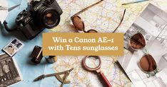 Tens is giving away a retro Canon AE-1 camera, and 5 pairs of @tens! Sunglasses which CNET said 'bathe the world in a Polaroid-like warmth'.