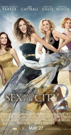 ♡Amazibg clothes and fun!♡Sex and the City 2 Poster with Sarah Jessica Parker, Kim Cattrall, Kristin Davis, and Cynthia Nixon. Kim Cattrall, Jason Lewis, Great Movies, New Movies, Movies Online, Comedy Movies, Watch Movies, Movies Free, Hindi Movies