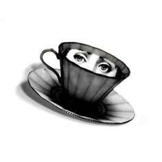 Fornasetti, eyes in tea cup.