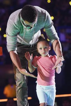 Stephen & Riley Curry at the Kids Choice Sports Awards
