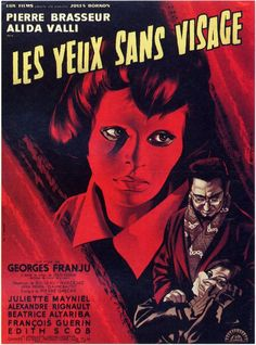 French poster for EYES WITHOUT A FACE (Georges Franju, France, 1960)
