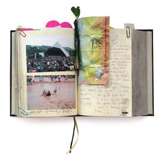 My Life Story, a 100-year diary for you to record the events of a lifetime.  Each journal includes a map of the world, and one of your body, to be filled in as you choose. Every year you can write about what's important in your life and add photos and memorabilia. And if you're too young to fill it in right now, someone else can start a record for you; things like your first steps, first words, first day at school—this is the story of your life!  I LOVE this idea!!!