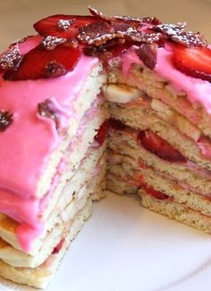 pink pancake cake, couldn't decide whether to put this in sweets, cakes, or food! Lol
