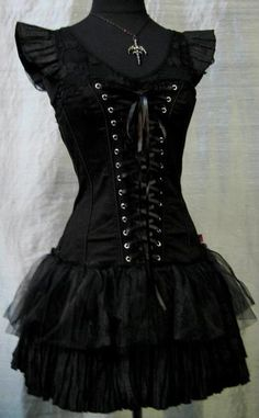 I found GOTHIC LACE UP DRESS ~ Rock Couture, Gothic Clothing, Victorian Clothing, Punk Clothing, Steampunk Clothing on Wish, check it out!