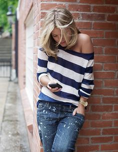 off the shoulder neck lines are my favorite.  Hate these jeans though.