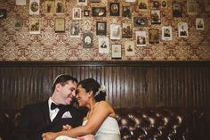Brooklyn Winery's portrait room is perfect for wedding photo shoots.